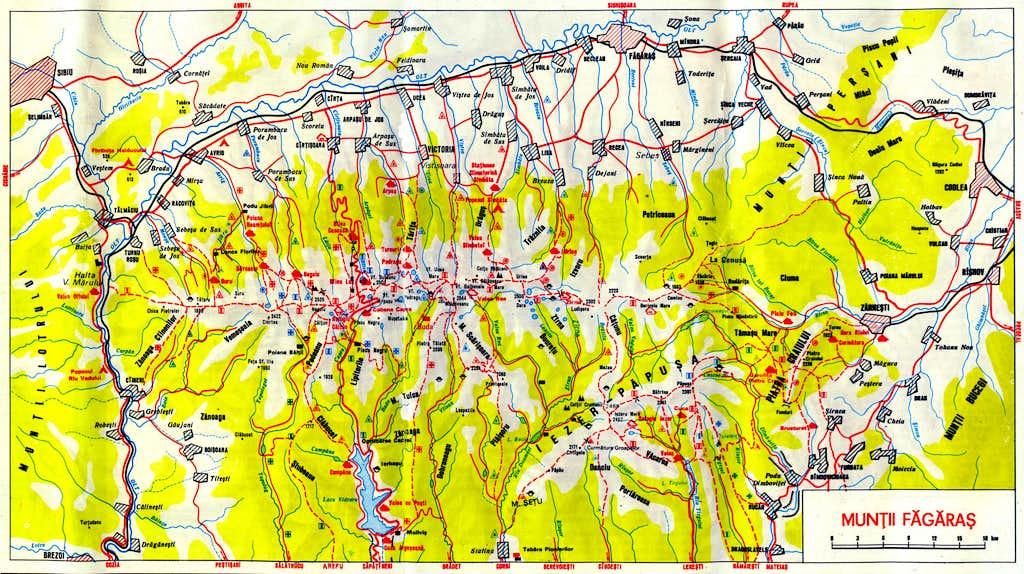 Făgăraş map