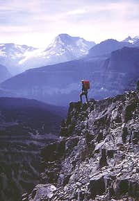 Top of the diorite diorite sill<br />  South Slope Route Mount Siyeh