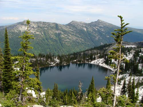 Beehive Lake And The East Side Of The Roman Nose And BottleNeck Peak