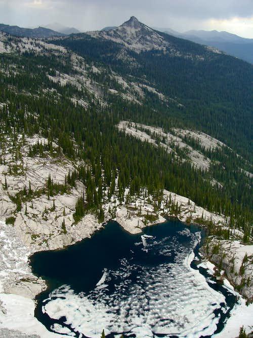 Harrison Peak And Little Harrison Lake
