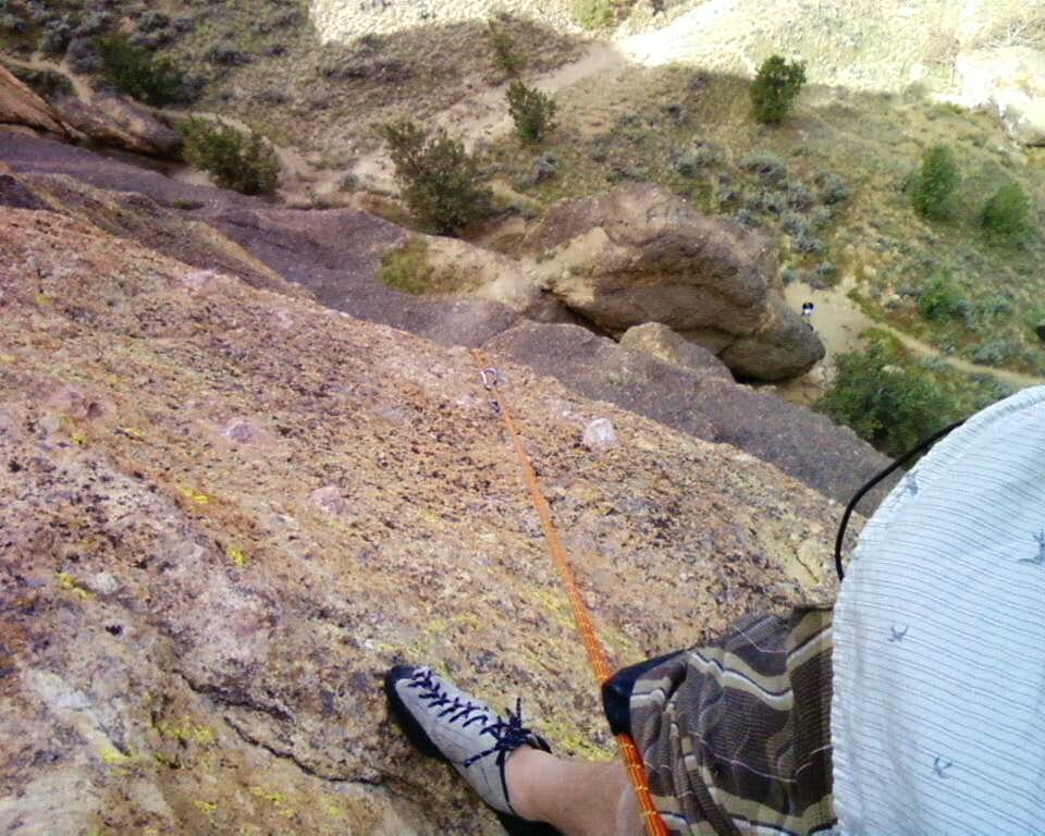 near the top anchors of pitch 3