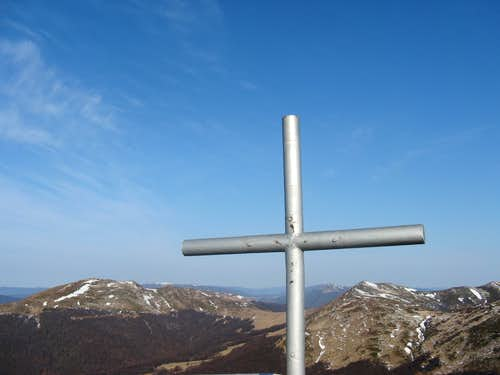 cross on the top of Halicz mountain (1 333 m.a.s.l.)