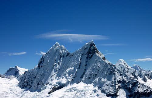 Chacraraju view from Yanapaqcha summit
