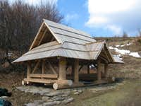 shelter at Bukowska pass