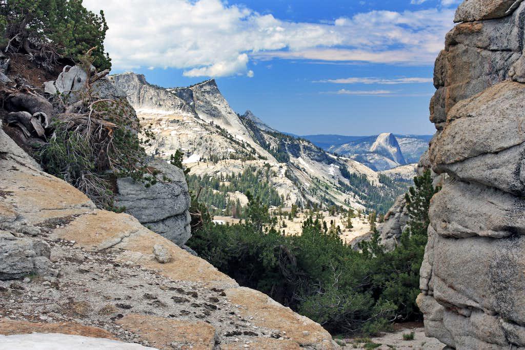 Tenaya Peak and Half Dome