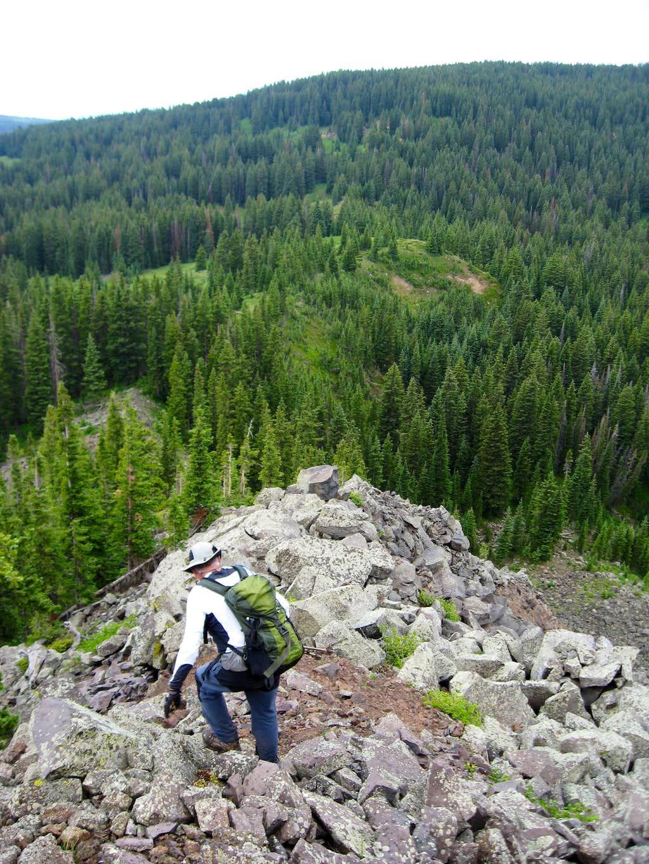 Ridge back down