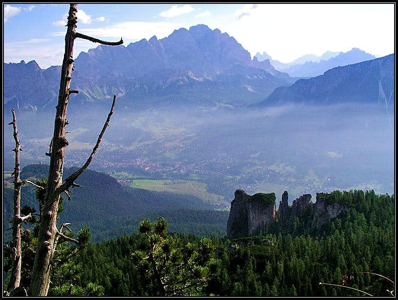 View on Cortina d'Ampezzo and...