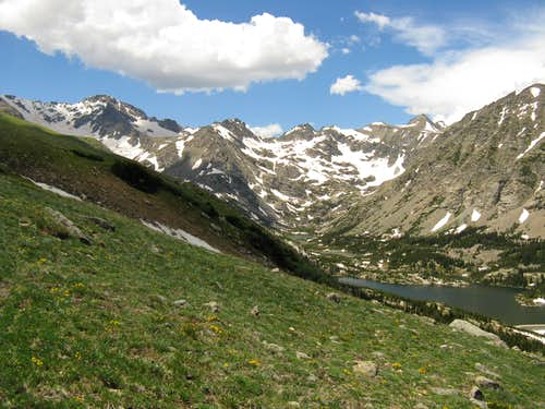 The Indian Peaks from the Glacier Trail