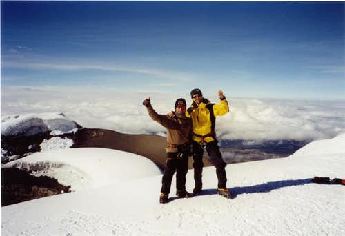 Raul and I at the summit of...