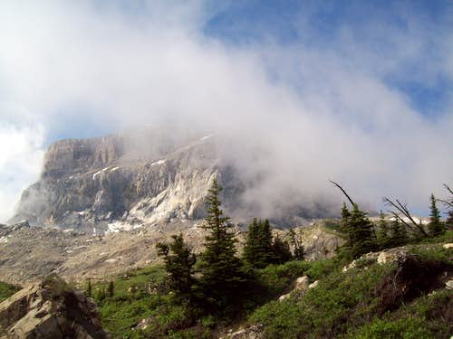 Chief Mountain In The Clouds