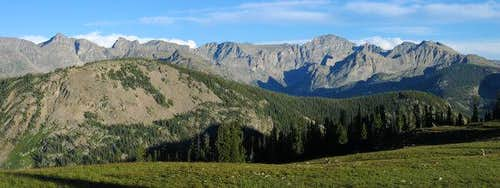 Panorama of the Indian Peaks...