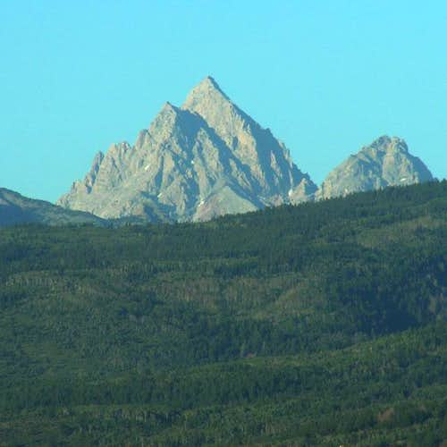 The Grand Teton from Victor,...