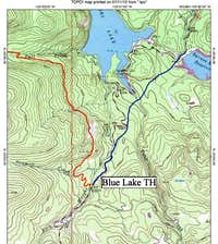 Blue Lake Trailhead Map