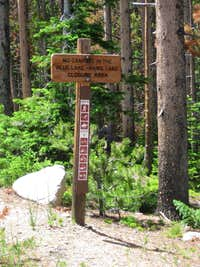 Blue Lake Trail Sign
