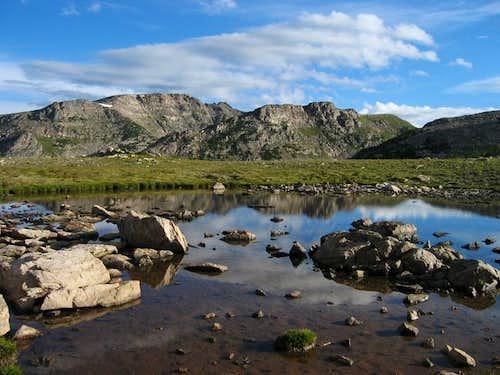Watanga Mountain reflected in...