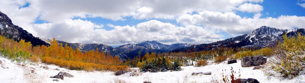 American Fork Canyon Fall Snow Pano