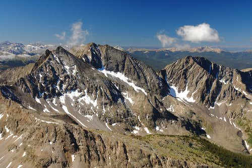 The Three Apostles from Huron Peak