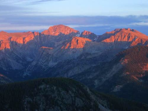 Apache Peak's northwestern...
