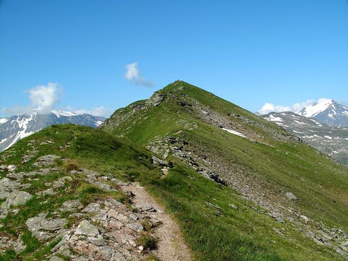 The ridge connecting the lower and higher summits of the Zittrauer Tisch