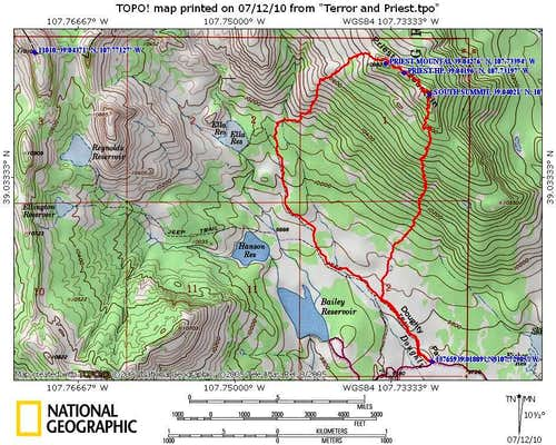 Priest Mtn route