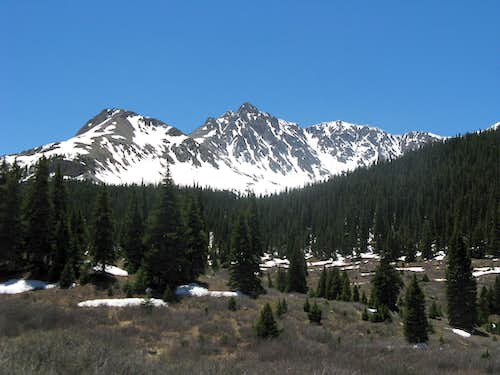 Spring snow on Anderson Peak