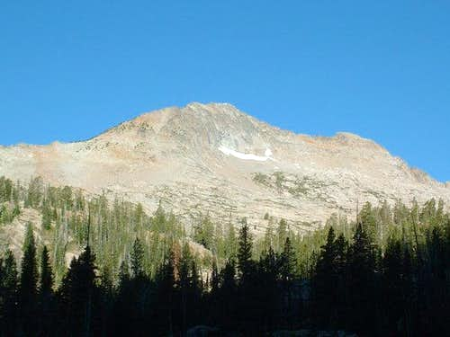 Snowyside Peak from camp at...