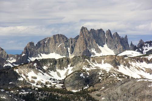 The Minarets from San Joaquin Ridge