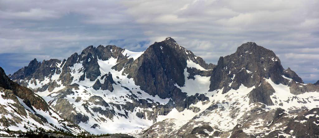 Mt. Ritter and Banner Peak from San Joaquin Ridge