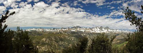 Ritter Range panorama from San Joaquin Ridge