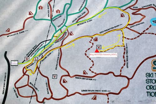 King Mountain Trail System Map