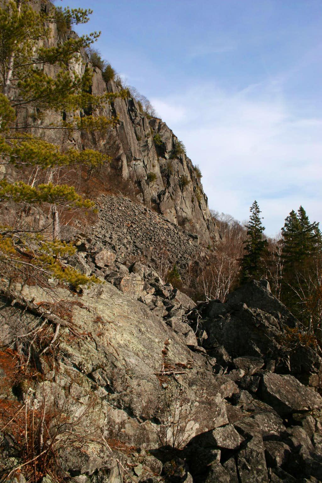 Robertson Lake Cliffs Rockfield