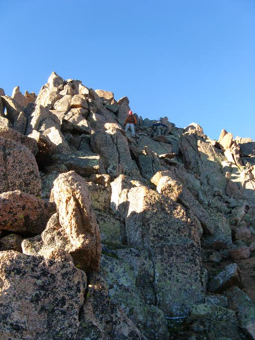 North Ridge scrambling