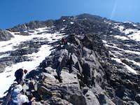 Climbing the Aiguille du Goǔter