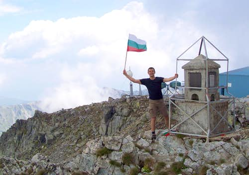 Happy on the top of Bulgaria