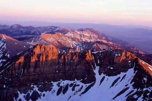 Sunset on the top of Wheeler Peak