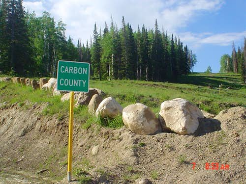 Carbon County sign