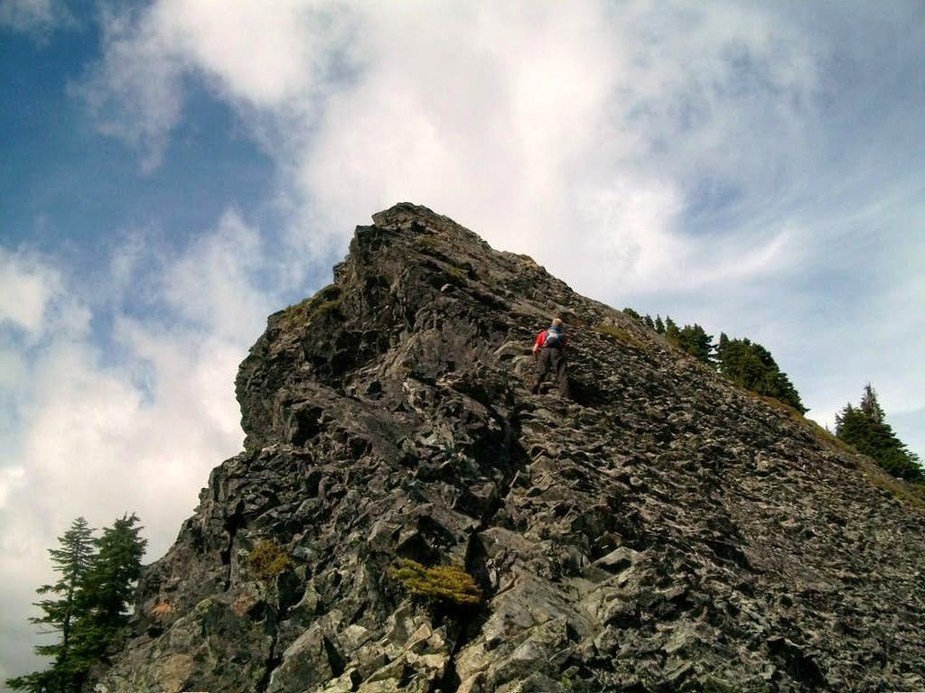 Bryan going up McClellan Butte