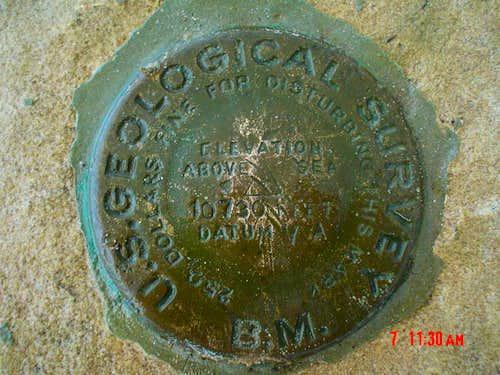 Summit survey marker