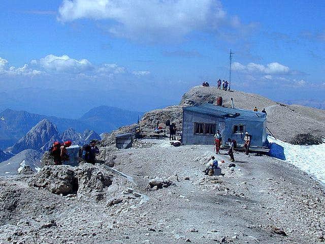 On the summit of Marmolada di...