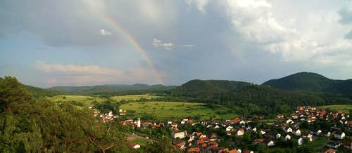 Rainbow over Busenberg