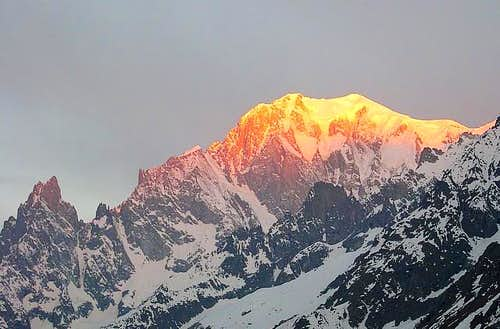 Mont Blanc at the sunrise