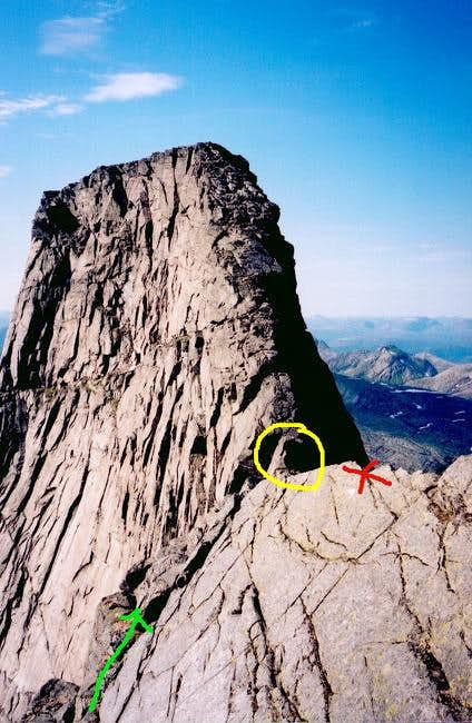The view of Stetind's summit...