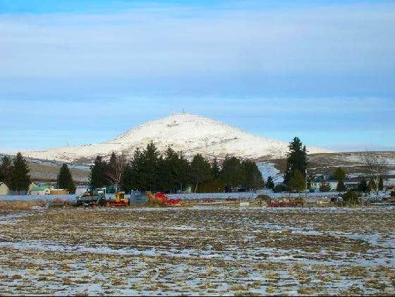 Steptoe Butte in winter