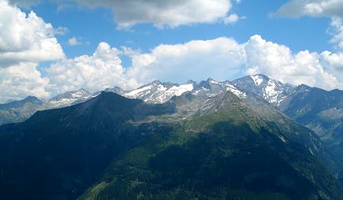 The Ankogel group, seen in the afternoon from the Zittrauer Tisch