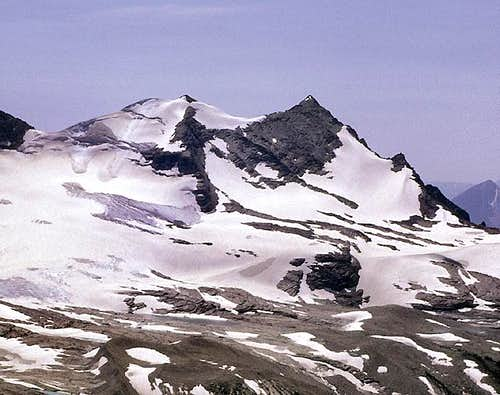 Gunsight Mountain and Sperry Glacier <br>from the north