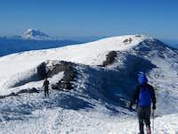 Adams on Horizon as we approach True Summit