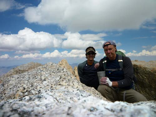 Marty and Uncle Rick on Mt Russell. Finally got up the Mithral Dihedral on 7-17-2010