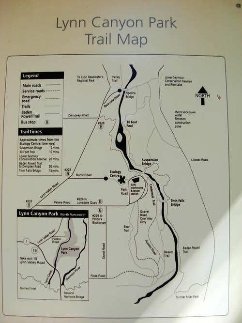 Lynn Canyon Trail Map