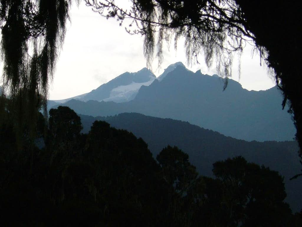 The First View of Mt Stanley and the Glacier