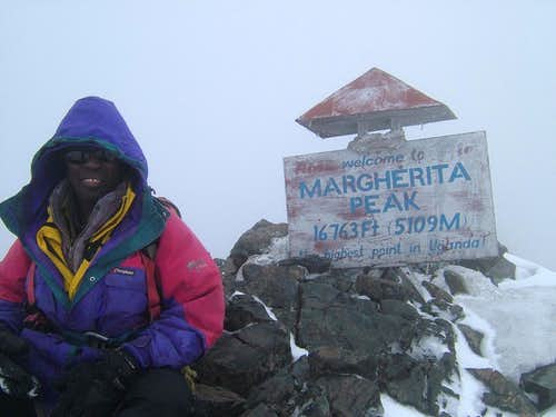 Anthony, my guide, on Margherita Peak